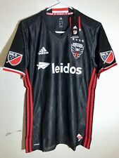 ADIDAS AUTHENTIC MLS TEAM JERSEY WASHINGTON DC UNITED BLACK ALT sz M