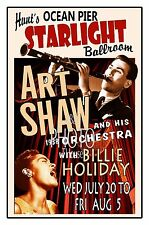 Art Shaw & Billie Holiday Starlight Ballroom 1938 Wildwood Nj Poster Thouse 2016