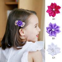 40pcs Handmade Satin Ribbon Flower Sew With Rhinestone Craft DIY Accessori YYK
