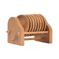 8Pcs/Set Heat Insulation Wooden Round Coasters Tableware Bamboo Placemats Tray