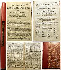 EGYPTE/PRIMITIAE LINGUAE COPTAE/ATHANASE KIRCHER/VERS 1636/BARBERINI/INTROUVABLE