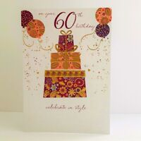 Words n Wishes Female Age 60 60th Celebrate In Style Birthday Card Presents/T106
