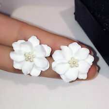 Quality Wedding Earring Jewelry Big White Flower Earrings For Women Party Gift