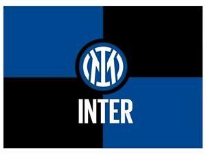 BANDIERA INTER ORIGINALE LOGO NUOVO 2021 cm. 140x100 SUBITO DISPONIBILE !!!!!!!!