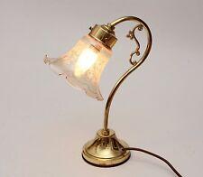 Italian Vintage /Retro Gooseneck Brass Table /Desk Lamp and Glass Tulip Shade