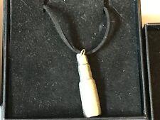 "Lipstick TG120 English Pewter On 18"" Black Cord Necklace"