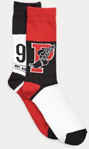 Polo Ralph Lauren 1992 Winter Stadium P-Wing Sock Soft Knit Vintage Graphics NWT