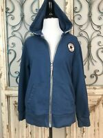Converse All Star Girls Blue Full Zip Hoodie Girls size Large (12-13 years)