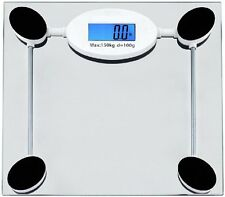 *New* Utopia Tempered Glass Digital Bathroom Scales w/ Lcd Display Clear 330lbs