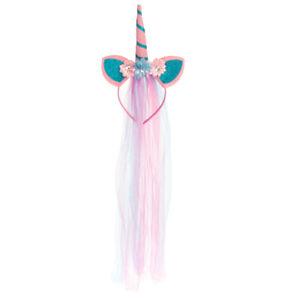Unicorn Horn Headband Set With Chiffon Mane Costume Unicorn Party Supplies