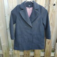 Women's H&M Gray pea Wool Coat Jacket Size 12 or large