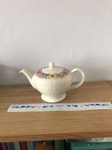 Sadler Floral Teapot With Indented Pattern