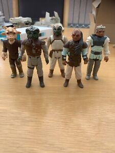Vintage Star Wars Jabba's Gang X5