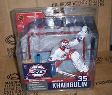 McFARLANE NHL 11 NIKOLAI KHABIBULIN VARIANT JETS GOALIE HOCKEY ACTION FIGURE