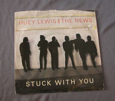 "Vinilo SG 7"" 45 rpm HUEY LEWIS AND THE NEWS - STUCK WITH YOU"