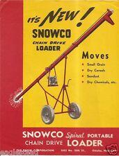Farm Equipment Brochure - Snowco - Grain Cereal Portable Chain Loader (F2034)