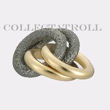 Authentic TrollBeads Silver & 18kt Gold 2+2 Trollbead  41810
