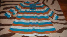 Hanna Andersson 80 Blue Brown Striped Dress
