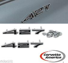 1967-1969 CORVETTE 427 HOOD EMBLEM SET, NEW, BOTH SIDES