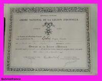DIPLOMES LEGION D'HONNEUR INGENIEUR EN CHEF MARINE 1948