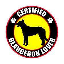 "Certified Beauceron Lover 4"" Sticker"