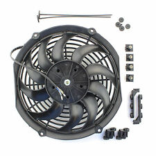 """ACP 12"""" Universal Push Radiator Cooling Fan Curved Blades Replacement Unit"""