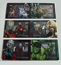 2012 Marvel's Greatest Heroes - Complete 6 Card Acetate Shadowbox Insert Set