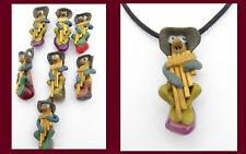 Anhänger Amulette Zwerg Schutzanhänger Talisman bunt Stein mit Band NEU