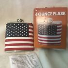 """6 oz """"The Patriot"""" American Flag Flask New In Box"""