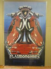 Vintage Lamborghini 1986 poster car hot rod  3552