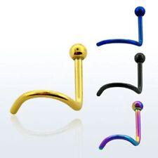 Piercing naso SPIRALE Metallico Colore a scelta SFERE 1,0 x 8 mm piercing naso