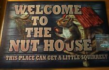 Heavy Duty Rubber Welcome Mat Rug Doormat Country Kitchen Squirrel Decor New