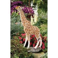 "Gerard Garden Giraffe Design Toscano Exclusive 36"" Hand Painted Statue"