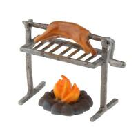 Miniature Barbecue Grill 1/64 Kicthen Accessories Roasting Rack 1:64