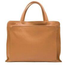 Italian Genuine Leather Ladies Briefcase , Brown  - Vera Pelle