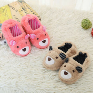 Toddler Infant Kids Baby Winter Shoes Boy Girls Cartoon Soft-Soled Slippers LIU9