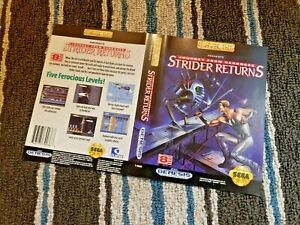 BOX ART ONLY Strider 2 Returns Darkness Original Sega Genesis Case Sleeve OEM
