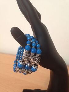 Tibetan silver Bead Women Bangle Bracelet