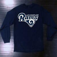 Los Angeles Rams Long T-Shirt Graphic Cotton Men Adult Logo Jersey LA