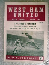 1966 League Division One- WEST HAM UNITED v SHEFFIELD UNITED,19 Feb(Bobby Moore)