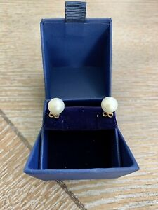 Blue Nile 14k Yellow Gold 9mm Pearl Earrings