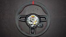 PORSCHE 911 991 R 991 GT3  RS STICK ALCANTARA  GT  STEERING WHEEL RED STITCH TOP