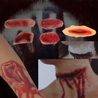 Halloween Party Simulation Bloody Wound Sticker Fake Scar Skin Creepy Makeup Eff