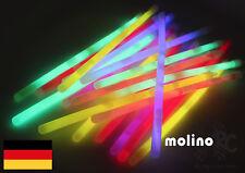 25x XXL MEGA Knicklichter, 250x10 mm LANG und HELL Leuchtstäbe 6 Farben Öse LANG