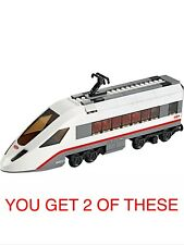 LEGO CITY TRAIN 2 X PASSENGER HIGH SPEED END CARRIAGES, SPLIT FROM SET 60051,NEW