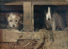 Youth and Experience Dogs in a Stable Samuel Fulton art canvas print