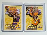 (LOT OF 2) KOBE BRYANT 1997-98 NBA Hoops #75 & SHAQUILLE O'NEAL #81 ~LAKERS 🔥🏆