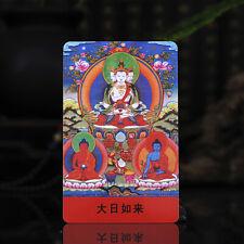 """3.4"""" Tibet Tibetan Buddhism Exquisite painting Amulet thangka Mahavairoca Buddha"""