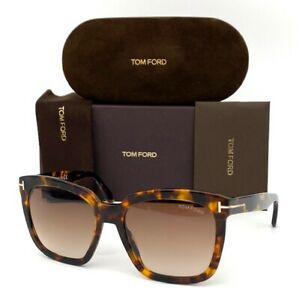 Tom Ford Amarra FT0502 52F Dark Havana / Brown Gradient 55mm Sunglasses TF0502