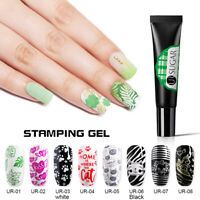 UR SUGAR 8ml Stempel UV Gellack Soak Off UV Gel for Nail Art Stamping Plate